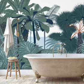 Papier peint panoramique palmier - urban jungle